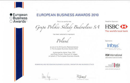 PSB w konkursie European Business Awards